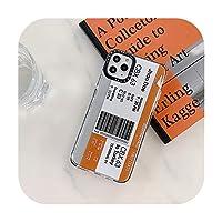 面白い旅行チケット電話ケースiphone 11プロマックス7 8プラスiphone X XR XSマックスソフトケース透明かわいいキャパ-WS52-Style2-For iphoneXR