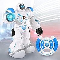 FITMAKER Smart RC Robot Toys Remote Control Robots Smart Programmable Robotics with Five Modes for Kids Present [並行輸入品]
