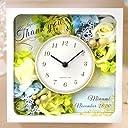 [結婚式で贈りたいギフト]フラワークロック「ルチーア ブルー」 花時計 /結婚式 記念品