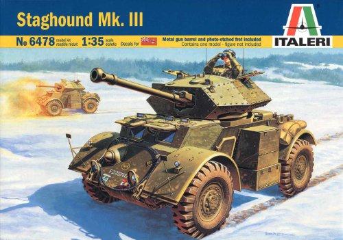 1/35 スタッグハウンド Mk.III 装甲車 (メタル砲身・エッチングパーツ付き) 38478 (タミヤ イタレリ 1/35 ミリタリーシリーズ 6478)