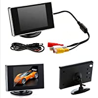 Vehicle Backup Cameras ixaer Mini 3.5 TFT Monitor and LED Color Screen Night Vision for Car Rearview Backup Camera Assembly. [並行輸入品]
