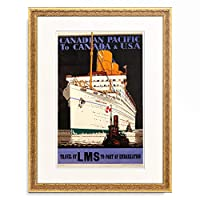 Kenneth Shoesmith 「Canadian Pacific to Canada and USA.' 1933.」 額装アート作品