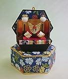 六角収納兜 五月人形飾り(紺色)