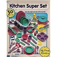 My Pretty Kitchen スーパーセット 子供サイズ 料理、ベーキング、サービング、掃除用 (カナダからのサーカ1990年代)