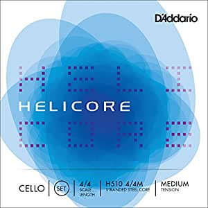 D'Addario ダダリオ チェロ弦 H510 4/4M Helicore Cello Strings / SET 【国内正規品】