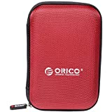 ORICO External Nylon 2.5'' HDD Protective Case Cover Bag 2.5 Inch Hard Drive Disk Case - Red