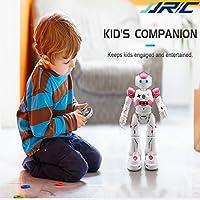 人型ロボット リモコンコントロール おしゃれ ダンス/ソング/プログラム可能/ジェスチャーセンサー/パトロール/障害物回避など 子供 おもちゃ 知育玩具 USB プレゼント(ピンク)