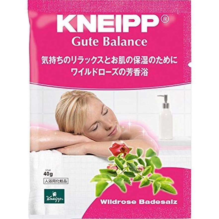 有限宣言ドラムクナイプ?ジャパン クナイプグーテバランス バスソルト ワイルドローズ 40g
