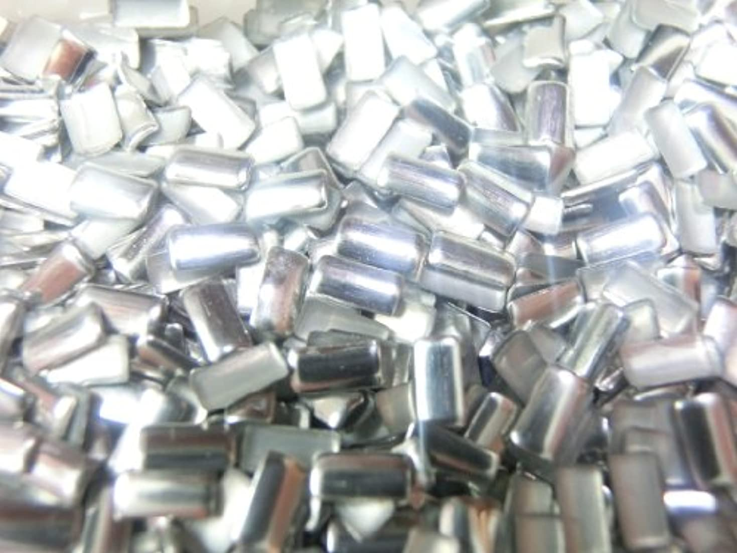 アーチ奇跡記念品【ラインストーン77】 多種類 スタッズ 約200粒 長方形(レクタングル) シルバー 2×4mm