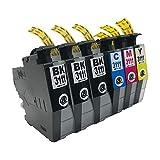 """LC3111(BK×3 C M Y)-6本セット ブラザー用 互換 インクカートリッジ 残量表示付き APEX製の最新ICチップを採用 【互印製】 ISO14001、ISO9001及び国際品質規格""""STMC""""認証工場製造品"""