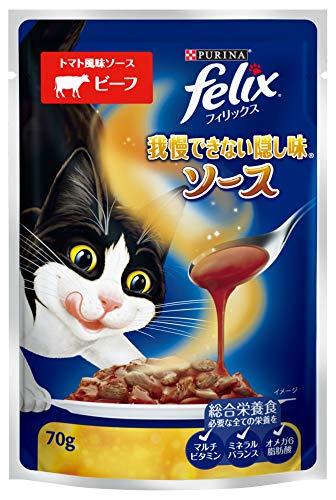 フィリックス felix 猫用 我慢できない隠し味 トマト風味ソース ビーフ 70g 12袋 ネスレ日本