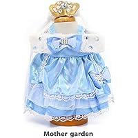 マザーガーデン Mother garden うさももドール 着せ替え人形用服 プリンセスドレス ブルー Mサイズ用 お人形遊び きせかえ ドール 着せ替え服