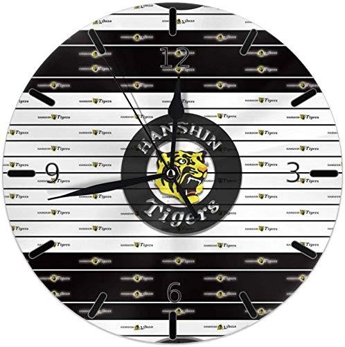 阪神タイガース 掛け時計 円型 壁掛け 置き時計 お洒落 オシャレ 数字 Round Wall Clock 静音 電池式 部屋装飾