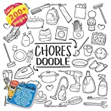 Beautiful Coloring Book Chores Home Housework, Unicorn, Music, Calming, Cats, Anime, Little Mermaid, Candy, Toy, Fish, Rock, Dolphin, Boys and others. Large 200+ pages. Big size 8,5x8,5 in. Made in USA Inspirational Coloring Book Doodle (Coloring Book Chores Home Housework and others Doodle Book)