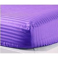 Jesira 400スレッド数100 %エジプト綿Extra Deepポケットボックスシーツ/ボトムシート病院 Cot Bed パープル