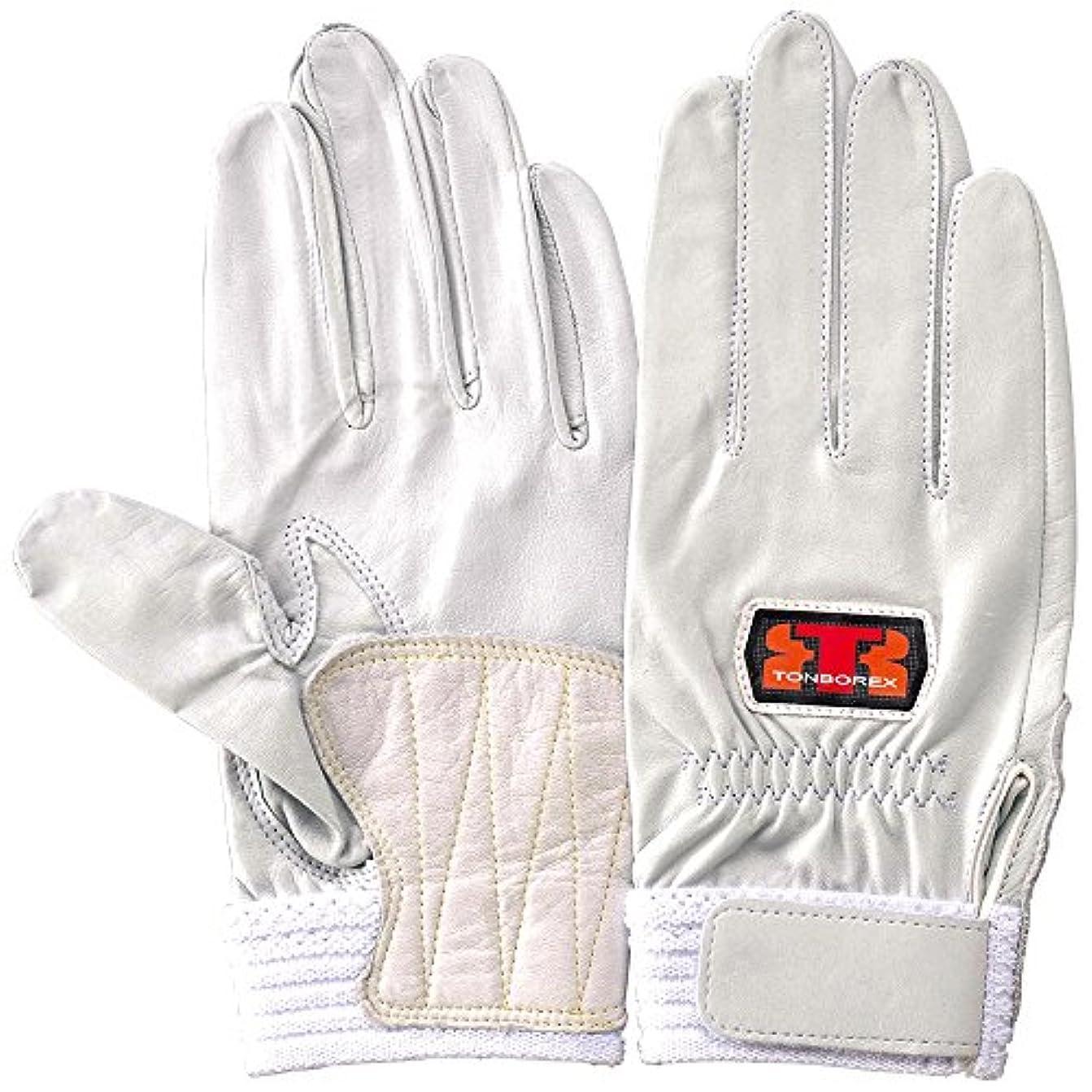 家族本爆発するTONBOREX(トンボレックス) レスキューグローブ 羊革手袋 R-MAX5 ホワイト