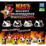ガチャガチャ KISS×HELLO KITTY マスコットストラップ 全8種セット