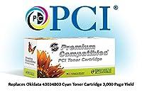プレミアム互換機43034803-pci PCI OKIDATA 43034803C3100シアントナーカートリッジ3K平均ページYield