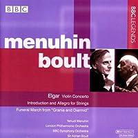 エルガー:ヴァイオリン協奏曲/序奏とアレグロ/劇音楽「グラーニアとディアーミッド」 - 葬送行進曲(メニューイン/ボールト)(1965-1975)