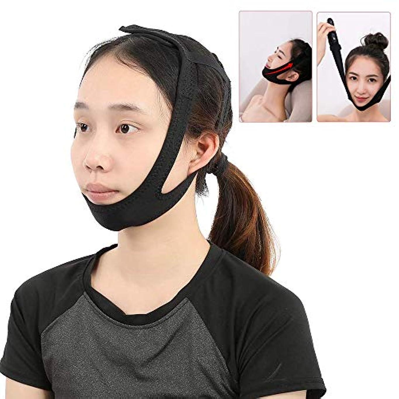 絶え間ない枕砂のVラインフェイシャルスリミングベルト-フェイスリフトマスク-肌を引き締めるための顔補正シェーパー包帯、ダブルチンとアンチリンクルの除去