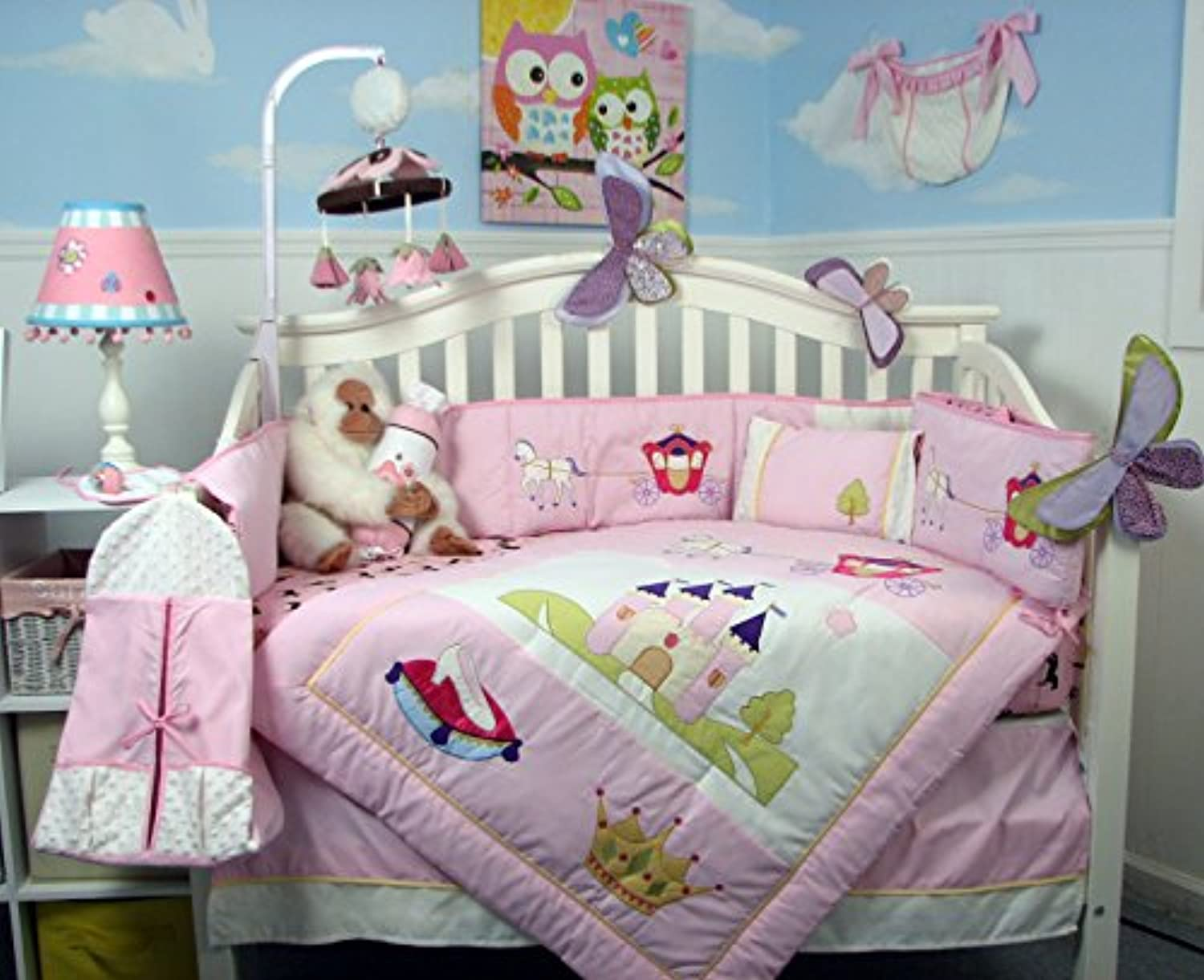 Boutique Royal Princess Baby 14 Piece Crib Bedding Set by SoHo Designs