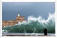 ストーミー波のティンサイン 金属看板 ポスター / Tin Sign Metal Poster of Stormy Wave