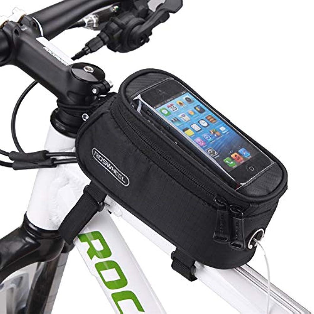 懸念眉をひそめるカスタムROSWHEEL 自転車 携帯電話 バッグ 5.5 インチ タッチ 画面 トップ フレーム チューブ 収納 バッグ サイクリング Mtb ロード バイクバスケット 自転車 アクセサリー 電話 ケース 12496(5.5 インチ 電話 用)