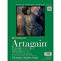 Pro-Art Paper Strathmore Black Artagain Paper Pad 9-inch x 12-inch, 24 Sheets by Pro-Art