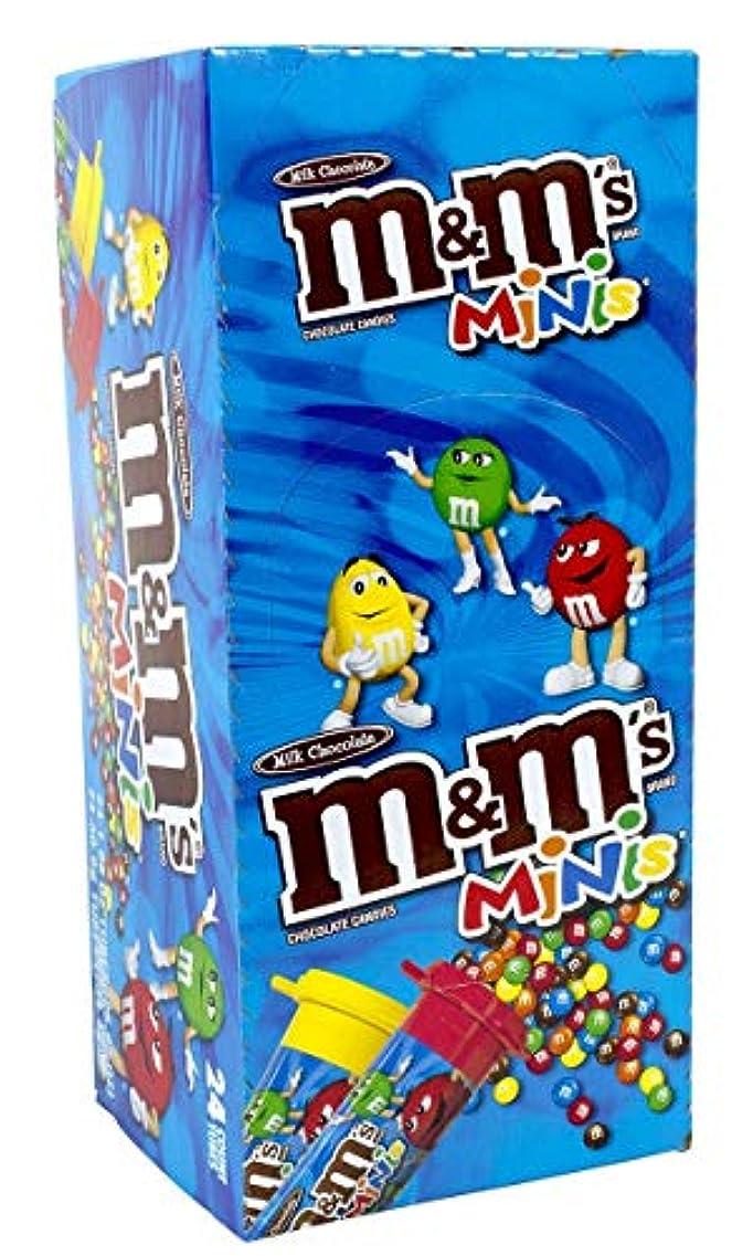 輝くジャングル座るM&M's ミニ ミルクチョコレート キャンディーズ (1.08 oz, 24個入り チューブ) [並行輸入品]
