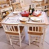 ビッキーダイニングテーブル椅子4脚セット/天然木(パイン・マホガニー)/デスク/リビング/テーブル