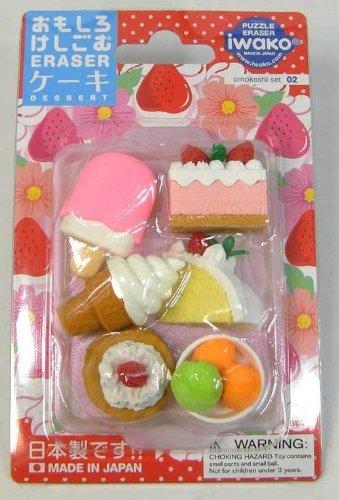 イワコー/iwako おもしろ消しゴム ケーキ ソフトクリーム ブリスターパック 日本製 er-981011