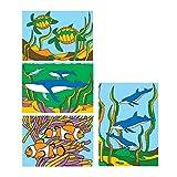 S & S CF-1440A Sand Art Boards 13cm x 18cm - Sea Life (Pack of 12)