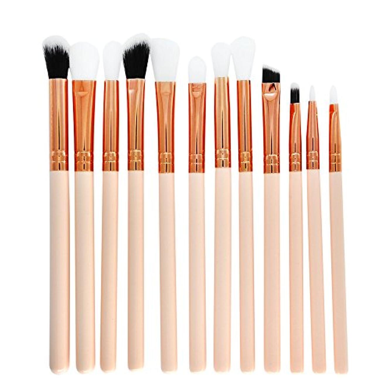 機転湿原たくさん12 本セット化粧筆   メイクアップブラシセット アイシャドウメイクブラシ  コスメチック化粧ブラシキットビューティーツール (ホワイト)