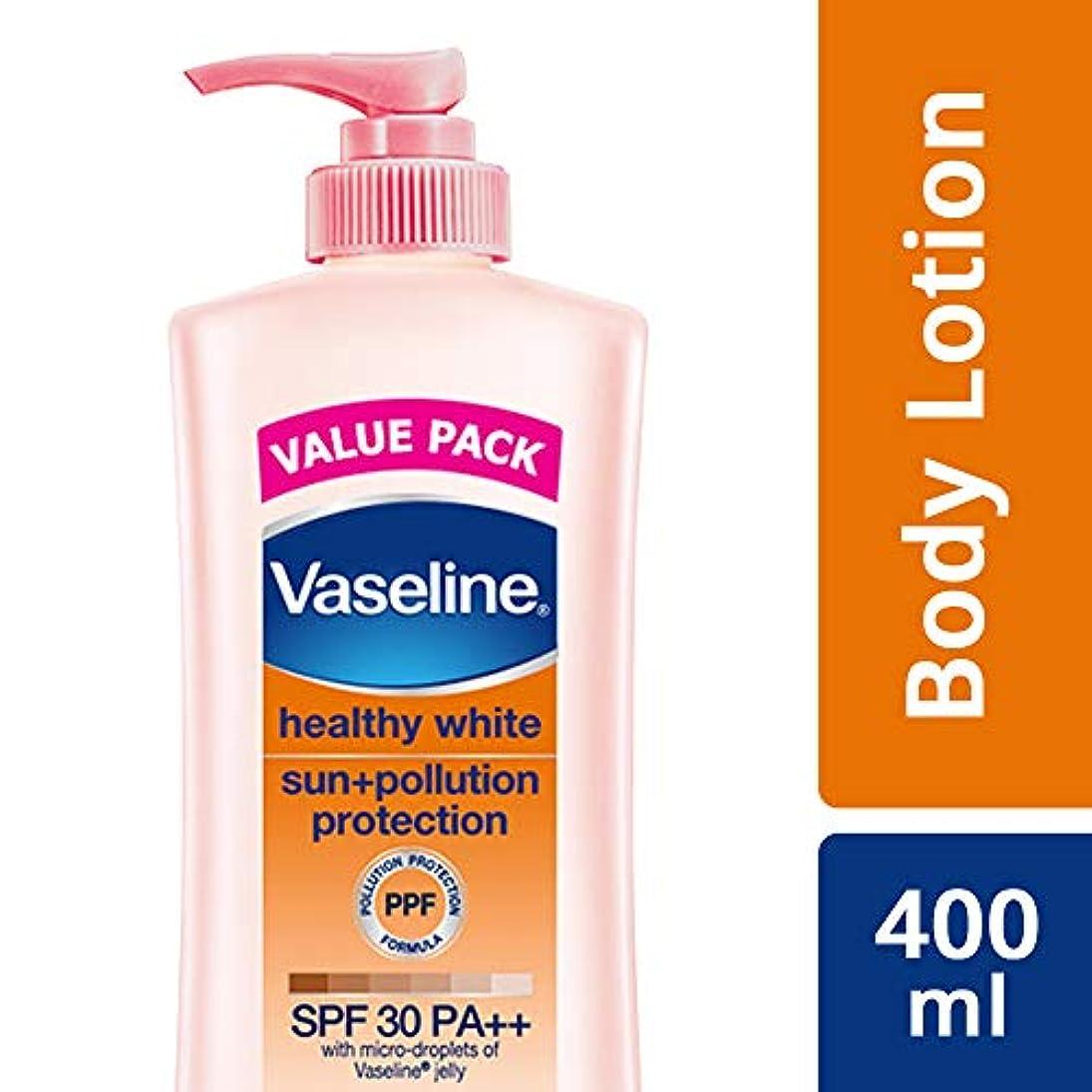 意味のあるマウントスリルVaseline Healthy White Sun + Pollution Protection SPF 30 Body Lotion, 400 ml