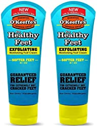 O ' Keeffe 's for Healthyフィートエクスフォリエイティング足クリーム、3オンス、チューブ