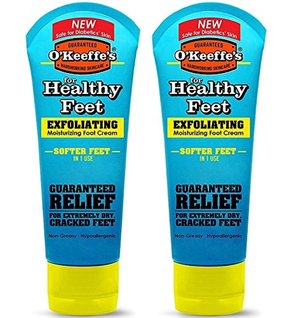 郵便ダッシュ時計回りO ' Keeffe 's for Healthyフィートエクスフォリエイティング足クリーム、3オンス、チューブ