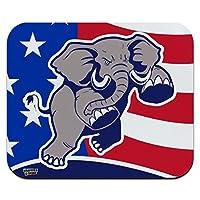 怒っている共和党の象の政治GOPアメリカの旗薄型薄型マウスパッドマウスパッド