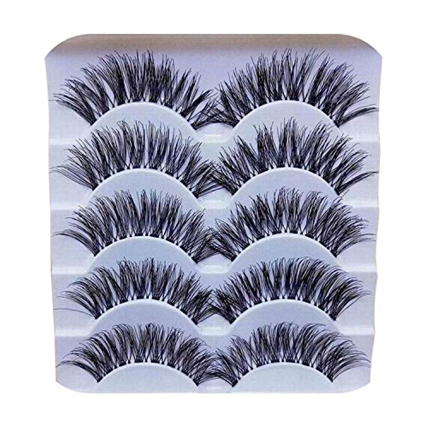 鏡シールドスカープ5ペア3Dナチュラルマルチレイヤーロングアイラッシュハンドメイドフェイクアイラッシュ1.22用の3D再利用可能なまつげ,5 pairs
