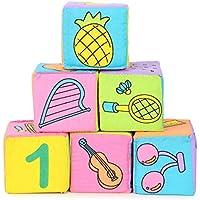幼児ベビーキッズ7 cm布建物ブロック教育Rattles Setおもちゃ/ / NIÑOS bebé Bloques de construcción de tela 7 cm Infantiles SONAJEROS Juguetes Educativos establecidos