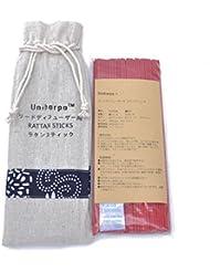 リードディフューザー用 ラタンスティック/リードスティック リフィル 繊維素材 22.5cm 直径3mm 100本入 乾燥剤入り オリジナル旅行専用袋付 (赤)