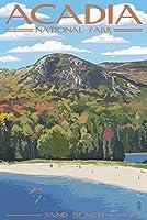 アカディア国立公園メイン州、–Sandビーチシーン 16 x 24 Giclee Print LANT-40953-16x24