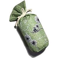 Le Temps Serein 竹炭バック 270g 麻生地 消臭 抗菌 空気浄化 シックハウス 湿気対策 ( 調湿 )に 化学物質無使用 冷蔵庫 車内 クローゼット キッチン 靴箱 ロッカー ペットのいる場所 トイレなどに最適 (グリーン)