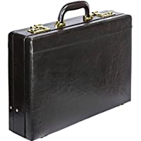 Tassia Faux Leather Expanding Briefcase - Twin Combination Lock System