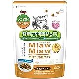 MiawMiawカリカリ小粒タイプミドル シニア猫用 かつお味 580g
