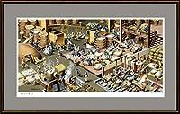 クラシカルアート「江戸時代の酒造」 額:facile M10号 (53.0×33.3cm)ジクレー版画
