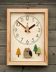 森の電葉時計(フクロウ振子