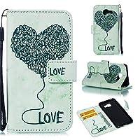 Samsung Galaxy A3 (2016) A310 スマートフォンケース PU Leather Wallet Case Flip Kickstand Function Ultra Folio Flip Slim Card Holder Case Cover レザーケース for Samsung Galaxy A3 (2016) A310 (Green)