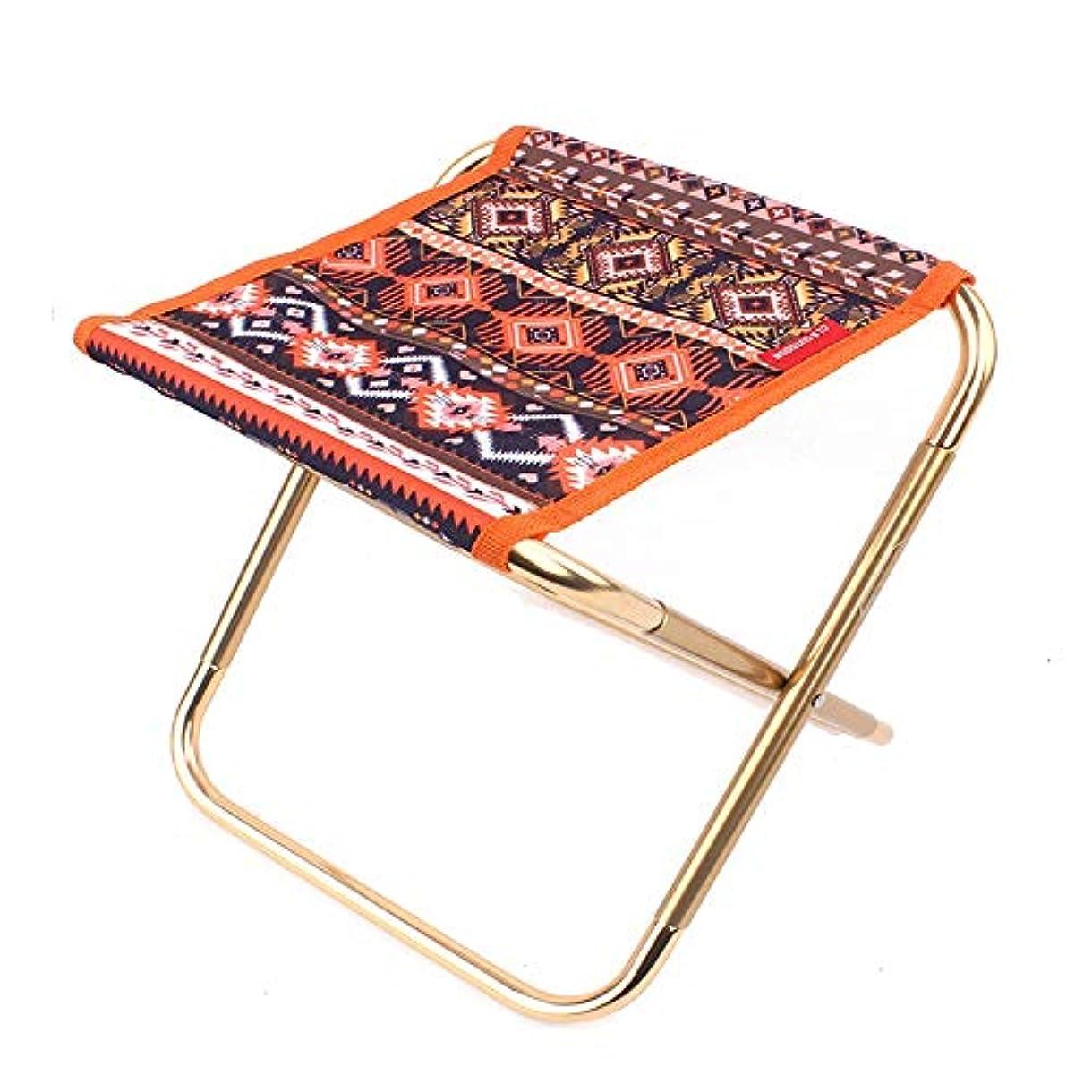 優先見ました溶かす屋外のハイキング浜の釣りのための軽量フレームの折るキャンプスツールの携帯用アルミニウム椅子、極度の慰め アウトドア キャンプ用 (色 : オレンジ)
