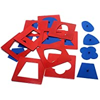 Baby Toys Montessori Materials Professional Quality Metal Insets Set/10 Early Childhood Education Preschool Geometrical Shapes