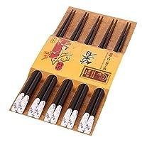 5種類の箸の和風木の箸の寿司の箸[D]